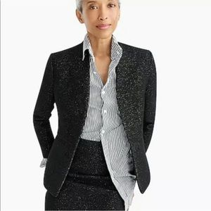 J créw going out blazer in tinsel tweed size 12